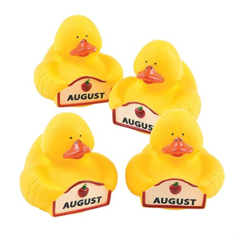 "August Rubber Duckies (12 Pack) 2"". Vinyl. - 1"