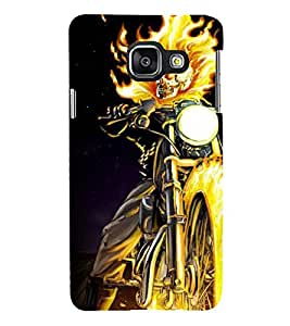 Printvisa Premium Back Cover Burning Skeleton On A Bike Design For Samsung Galaxy A3 (2016)::Samsung Galaxy A3 (2016) Duos with dual-SIM card slots