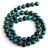 SODIAL(R) Chrysocolla Round Gem Gemstone Loose Beads 8mm Strand HOT