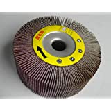 "Premium FLAP WHEEL 4"" x 1"" with 5/8"" Arbor  Unmounted 120 grit  Abrasive Grinding tool"