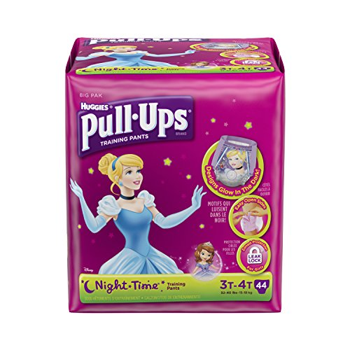 Pull-Ups Training Pants Night Time for Girls, 3T-4T, 44 Count (Pack of 2)