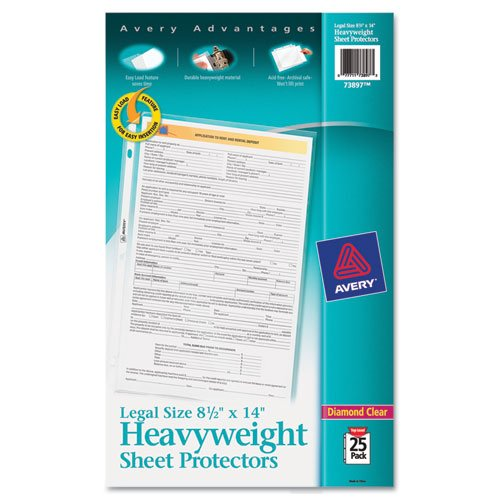 Avery - Top-Load Polypropylene Sheet Protector, Heavy, Legal, Clear, 25/Pack 73897 (Dmi Pk