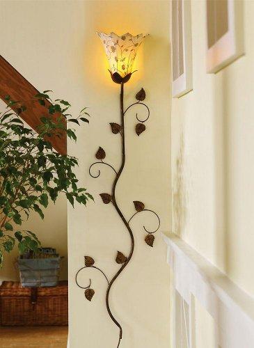 Metal Floral Petals Wall Lamp