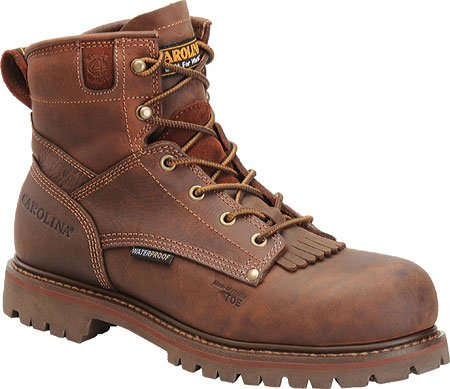Carolina Men'S 6 Inch Waterproof Ct Eh Boot Kharthoum Cigar Leather 13 4E Us
