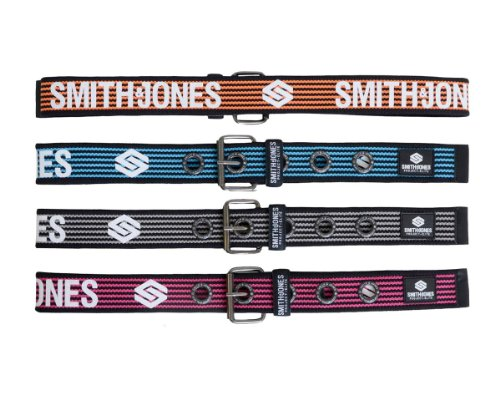 Pack of 4 Mens Smith and Jones Branded Heavy Duty Canvas Belts S M L XL