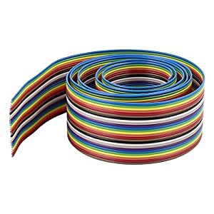1m 3.3ft 26P 26 Pin Flat Ribbon Cable Wire Conductors 1.27mm Pitch