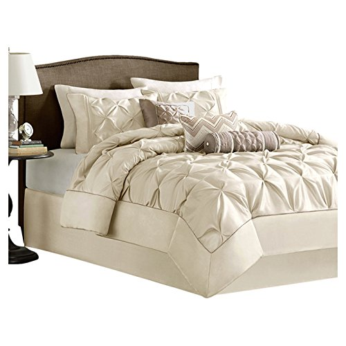 Madison Park Leanne 7 Piece California King Comforter Set - Bedding Comforters Sets Duvet Cover Bedspreads - Sale!