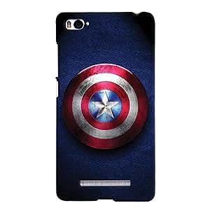 ColourCrust Xiaomi Mi 4i Mobile Phone Back Cover With Captain America - Durable Matte Finish Hard Plastic Slim Case