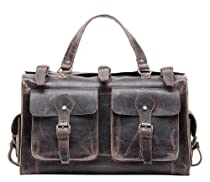 Hot Sale Vicenzo Picasso Duffle / Overnight / Travel Leather Bag (Coffee Brown, Full Grain Leather)
