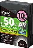 TDK Blu-ray用 省スペース収納ケース 10枚収納ブックタイプ グラファイトカラー CASE-BDB10GR1A
