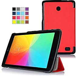KuGi LG G Pad X8.3 case, High quality ultra-thin Smart Cover Case for LG G Pad X 8.3 Tablet. (Red)