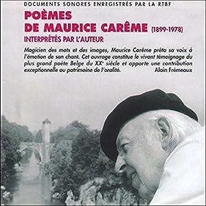 Poèmes de Maurice Carême (1899-1978) - Interprétés par l'auteur | Livre audio
