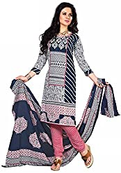 Fashionx Women Cotton Printed Unstitched Dress Material(1711_Multi-Coloured_Free Size)