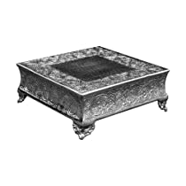 Square Silver Wedding Hand-crafted 18 Inch Cake Stand