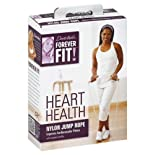 Forever Fit by Denise Austin, Nylon Jump Rope, with Wooden Handles, Heart Health 1 rope