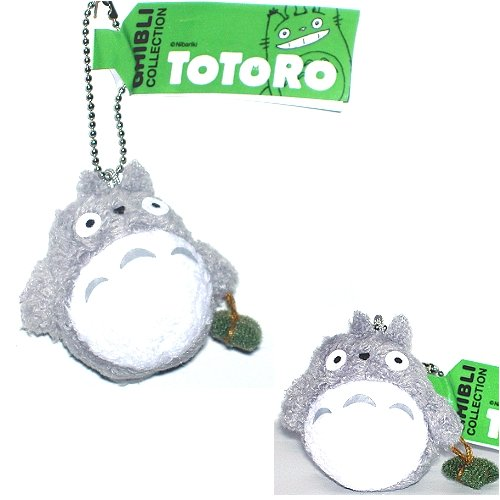 """Studio Ghibli My Neighbor Totoro 1.5"""" Grey Totoro Plush with Chain - 1"""