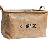 Organizing Baskets for Clothing Storage - Storage Baskets made from Eco-Friendly Jute. Works as Fabric Drawer, Baby Storage, Toy Storage. High Quality Nursery Baskets fit most shelves - by OrganizerLogic