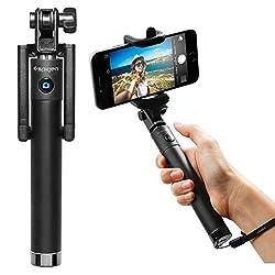 Selfie Stick, Spigen® [New Generation] Bluetooth Selfie Stick with Remote Shutter [S520] for Nexus 5x/Nexus 6P/ iPhone 6S/6S Plus/6/6 Plus/5S, Galaxy Note 5/S6 Edge Plus & More - S520 (SGP11721)