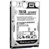 Western Digital WD Scorpio Black 750 GB SATA 3 GB/s 7200 RPM 16 MB Cache Internal Bulk/OEM 2.5-Inch Mobile Hard Drive