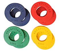 Olympic Fractional Plates 0.25, 0.50, 0.75, 1.00 Kg(.55, 1.1, 1.65, 2.2 Lbs) 4 Pairs Great Gift Idea!