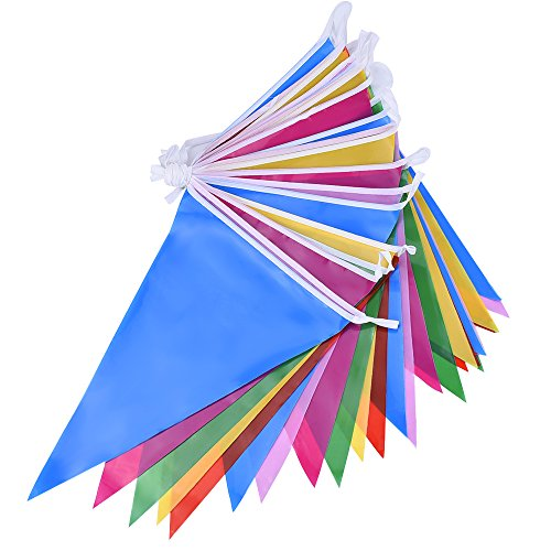 mudder-bandierine-pavese-bandierine-plastica-bandierine-colorate-30-bandiere-doppie-facciate-interne