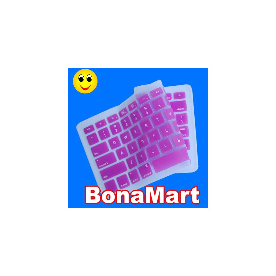 Silicone Keyboard Cover for MacBook Apple mac 13 15 Purple