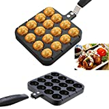 Neaer 16 Holes Kitchen Takoyaki Grill Pan Plate Cooking Baking Mold Octopus Ball Maker With Handle Kitchen Tools