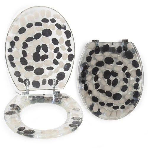 wc sitze toilettendeckel mit steinmuster online shop. Black Bedroom Furniture Sets. Home Design Ideas