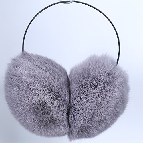 XMQC*Inverno caldo Caps manicotto femmina orecchio pelliccia sopra l'orecchio orecchio kanezane caldo peli di coniglio extra grande marea orecchio , sottile rack grigio
