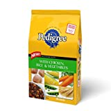 Pedigree Wholesome Receipe with Chicken, Rice & Vegetables Dry Food for Adult Dogs, 16.3-Pound Bag