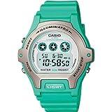 Casio LW-202H-3AVEF Ladies Illuminator White Dial Green Resin Strap Watch