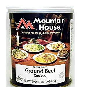 Mountain House Ground Beef #10 Can Freeze Dried Food - 6 Cans Per Case NEW! by Mountain House