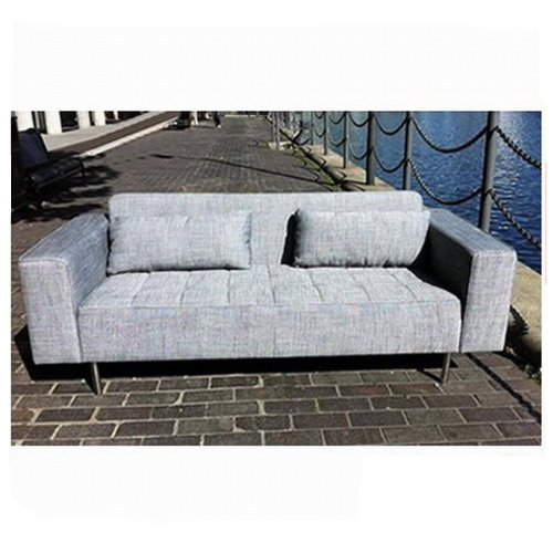 CC-Grey Colour Modern Fabric Living Room Sofa Armchair 6109