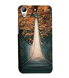 Fuson Premium Back Case Cover Bridge With Black Background Degined For HTC Desire 728g Dual::HTC Desire 728G::HTC Desire 728
