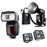 Godox Witstro AD360II-C TTL Powerful Speedlite Flash+PB960 Lithium power Ebony +Godox TT685C Camera Flash+Godox X1 TTL Remote Trigger Transmitter&Receiver for Canon EOS Camera +HuiHuang no-cost gift