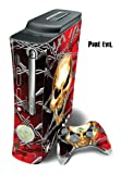 Skin Decal Cover for Xbox 360 Console + two Xbox 360 Controllers - Pure Evil