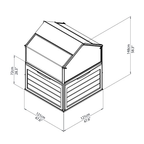 Palram-701808-Hochbeet-118-x-118-x-146-cm-Alu-Plant-Inn