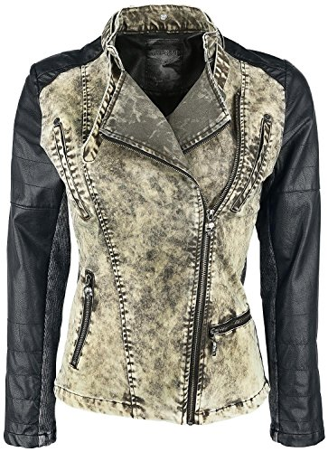 Rock Rebel by EMP 2 In 1 Biker Style Giacca donna nero/grigio XL