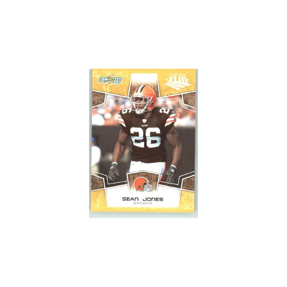 2008 Donruss / Score Limited Edition Super Bowl XLIII Gold Border # 76 Sean Jones   Cleveland Browns   NFL Trading Card in a Prorective Screw Down Display Case