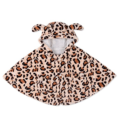 Leopard Baby Clothes Cloak Baby Kids Warm Hood Cape Coat 100cm (0-6years baby)