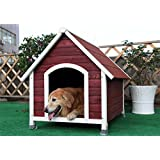 Petsfit 33 X 40 X 34 Inches Wooden Dog House , Dog House Outdoor,Painted With Water Based Paint