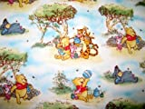 SheetWorld Fitted Pack N Play (Graco Square Playard) Sheet - Pooh In The Park - Made In USA