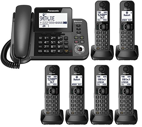 Panasonic KX-TGF383M plus three KX-TGFA30M handsets DECT 6.0 Plus Corded / Cordless 6-Handset Landline Telephone System (KX-TGF383M+3, KX-TGF382M+4, KX-TGF380M+5) (Certified Refurbished) (Panasonic Dect 6 Plus compare prices)