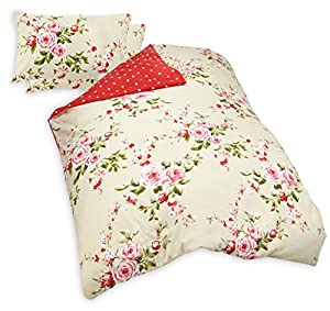 Catherine Lansfield Canterbury Quiltset - Red - Double