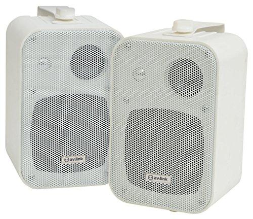 avlink-B30-kompakt-stereo-Lautsprecher-Paar-inkl-Wandhalterung-Wei