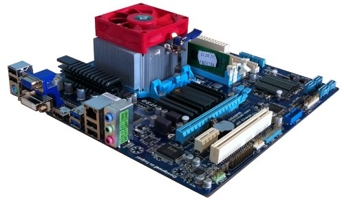 AMD Sempron 145 2.8GHz CPU - GIGABYTE 78LMT USB3 Mainboard - VGA DVI HDMI Motherboard - 4GB DDR3 1333MHz Branded Memory - Assembled & Tested Upgrade Bundle
