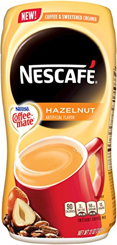 Nescafe with Coffee-mate Instant Coffee, Hazelnut Powder, 12 Ounce (Coffee Powder Instant compare prices)