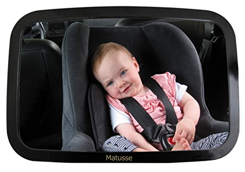 Learn More About Baby Back Seat Car Mirror - Shatterproof & Lightweight - Extra Large Wide-Angle Vie...