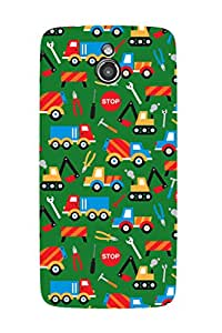 ZAPCASE PRINTED BACK COVER FOR INFOCUS M2- Multicolor