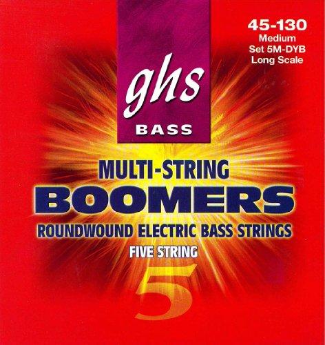Ghs Strings Electric Bass Boomer Set (Medium Nickel Steel, 5-String)
